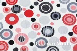 Дак (DUCK) черные, серые, красные круги на белом фоне