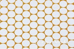 Дак (DUCK) белые круги на горчичном фоне