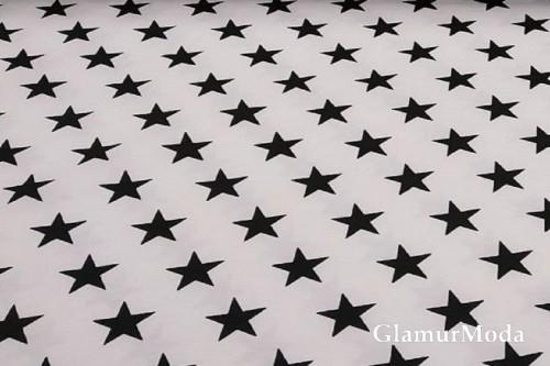 Дак (DUCK) чёрные звезды на белом фоне, 180 см