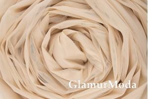 Еврофатин бежевого цвета, воздушный и мягкий, 300 см