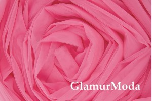 Еврофатин ярко-розового цвета, воздушный и мягкий, 300 см