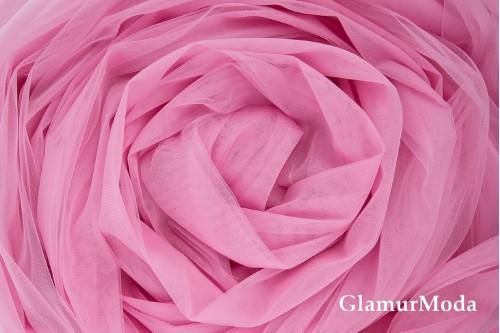 Еврофатин насыщенно-розового цвета, воздушный и мягкий, 300 см