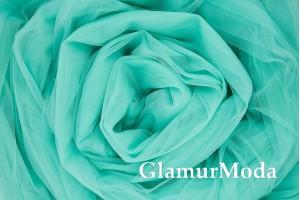 Еврофатин мятного цвета с зеленым оттенком, воздушный и мягкий, 300 см