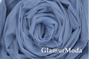 Еврофатин серо-голубого цвета, воздушный и мягкий, 300 см
