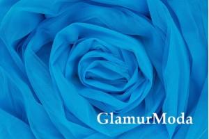 Еврофатин синего цвета, воздушный и мягкий, 300 см