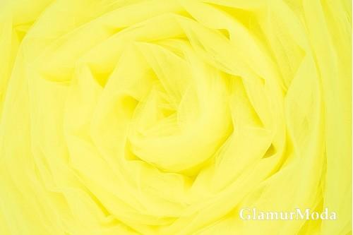 Еврофатин лимонно-жёлтого цвета, воздушный и мягкий, 300 см