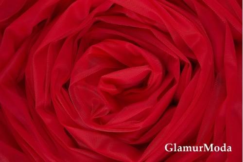 Еврофатин красного цвета, воздушный и мягкий, 300 см
