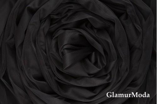 Еврофатин черного цвета, воздушный и мягкий, 300 см