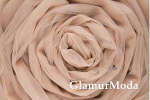 Еврофатин телесно-пудрового цвета, воздушный и мягкий, 300 см