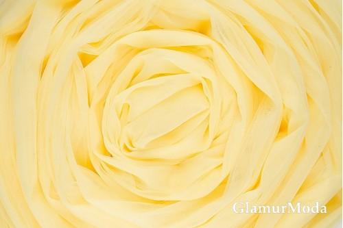 Еврофатин нежно-желтого цвета, воздушный и мягкий, 300 см