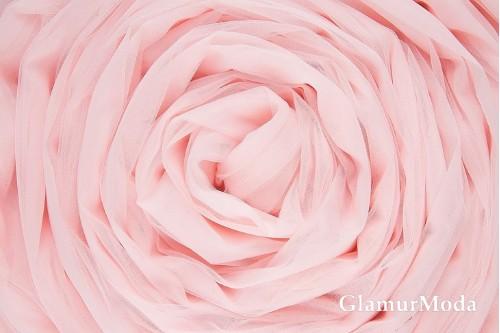 Еврофатин нежно-розового цвета, воздушный и мягкий, 300 см