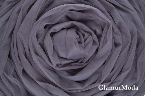 Еврофатин цвета серый графит, воздушный и мягкий, 300 см