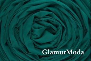 Еврофатин темно-изумрудного цвета, воздушный и мягкий, 300 см
