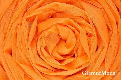 Еврофатин оранжевого цвета, воздушный и мягкий, 300 см