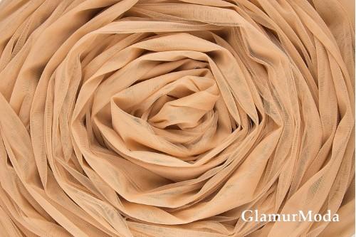 Еврофатин светло-коричневого  цвета, воздушный и мягкий, 300 см