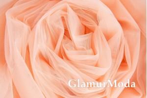 Еврофатин персикового цвета, воздушный и мягкий, 300 см