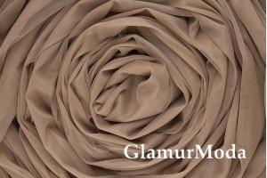 Еврофатин коричневого  цвета, воздушный и мягкий, 300 см