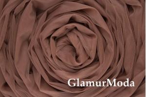 Еврофатин темно-коричневого  цвета, воздушный и мягкий, 300 см