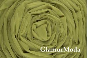 Еврофатин оливкового цвета, воздушный и мягкий, 300 см