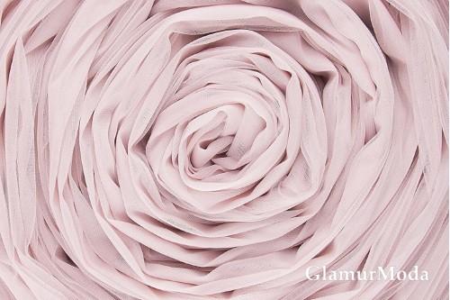 Еврофатин бледно-пудрового цвета, воздушный и мягкий, 300 см