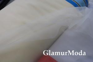 Еврофатин молочного цвета №3, воздушный и мягкий, 300 см