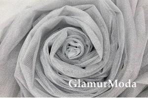 Фатин с люрексом Gumus, серебро, 300 см., арт. 1