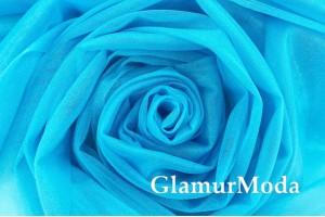 Еврофатин Karina, с блеском, голубой всплеск, 300 см., арт. 27