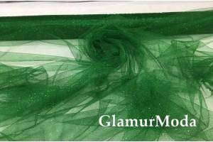 Фатин металлик зелёного цвета