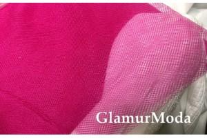 Фатин средней жесткости цвета фуксия шириной 150 см