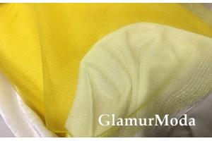 Фатин средней жесткости насыщенно-желтого цвета шириной 150 см
