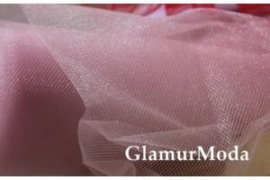Фатин средней жесткости розового цвета шириной 150 см