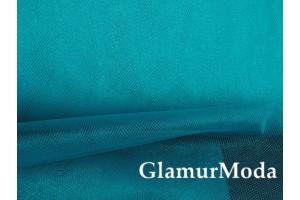 Фатин средней жесткости бирюзового цвета шириной 150 см