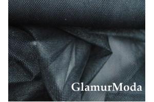 Фатин средней жесткости черного цвета шириной 150 см