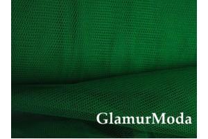 Фатин средней жесткости темно-зеленого цвета шириной 150 см
