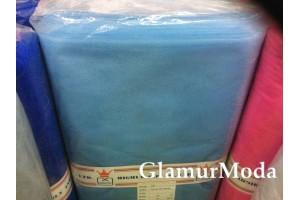 Фатин средней жесткости голубого цвета шириной 150 см