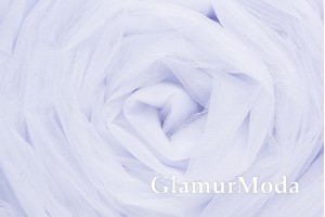 Фатин средней жесткости белого цвета шириной 300 см