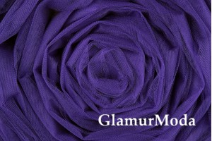 Фатин средней жесткости фиолетового цвета шириной 300 см