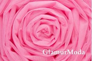 Фатин средней жесткости розового цвета шириной 300 см