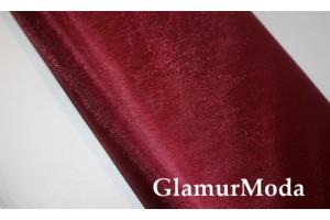 Фатин средней жесткости цвета марсала шириной 300 см