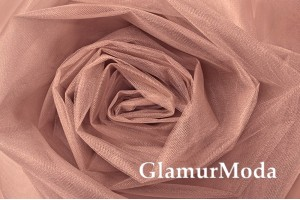 Фатин Kristal, средней жесткости, розовый загар, 300 см., арт. 9