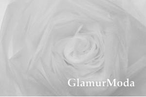 Фатин Kristal, средней жесткости, белый, 300 см., арт. 1