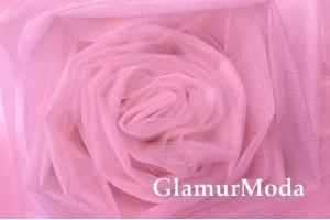 Фатин Kristal, средней жесткости, розовая леди, 300 см., арт. 11