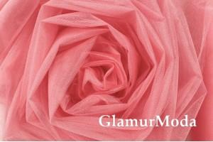 Фатин Kristal, средней жесткости, фарфоровая роза, 300 см., арт. 13
