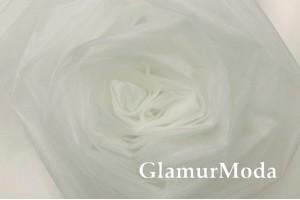 Фатин Kristal, средней жесткости, белый шепот, 300 см., арт. 4