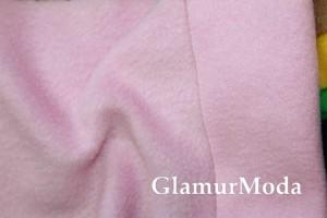Флис нежно-розового цвета