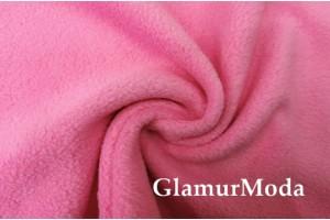 Флис розового цвета