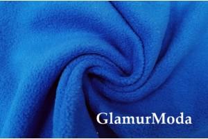 Флис синего василькового цвета