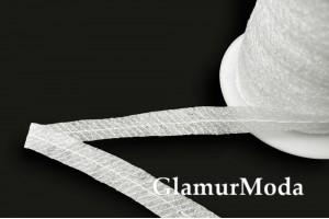 Лента клеевая с усилением, белая, 1 см