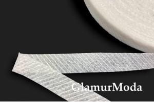 Лента флизелиновая нитепрошивная по косой, белая, 1 см