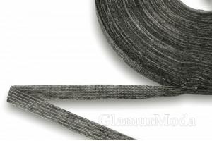 Лента флизелиновая нитепрошивная, серая, 1 см